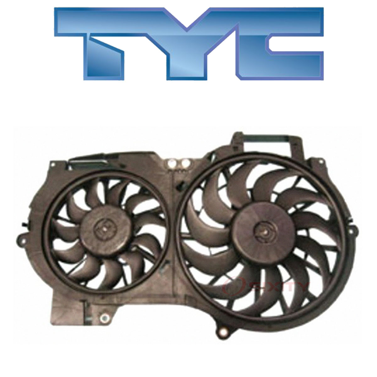 Dual Radiator and Condenser Fan Assembly TYC 622710